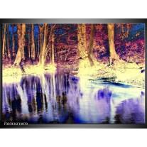Glas schilderij Natuur | Paars, Geel, Wit