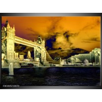 Foto canvas schilderij Londen | Geel, Blauw, Creme