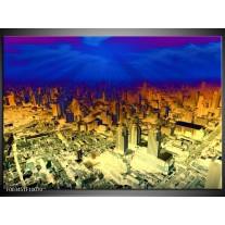 Foto canvas schilderij Steden   Oranje, Blauw, Geel