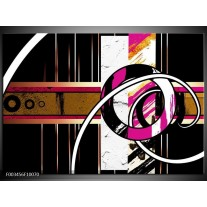 Foto canvas schilderij Abstract | Roze, Zwart, Wit
