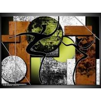 Foto canvas schilderij Abstract | Bruin, Groen, Zwart