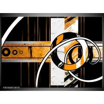 Foto canvas schilderij Abstract | Oranje, Bruin, Wit