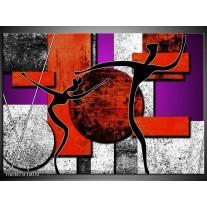 Foto canvas schilderij Abstract   Rood, Zwart, Paars