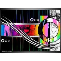 Glas schilderij Abstract | Paars, Rood, Geel