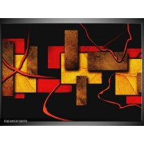 Foto canvas schilderij Abstract | Rood, Geel, Bruin