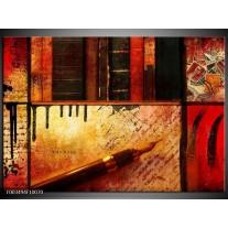 Glas schilderij Abstract | Rood, Zwart, Bruin