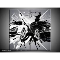 Wandklok op Canvas Audi | Kleur: Zwart, Wit, Grijs | F003495C