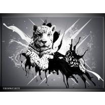 Glas schilderij Dieren | Zwart, Wit, Grijs