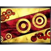 Glas schilderij Abstract | Rood, Geel, Zwart