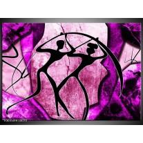 Glas schilderij Abstract | Roze, Paars, Zwart