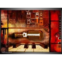 Glas schilderij Abstract   Rood, Bruin, Geel