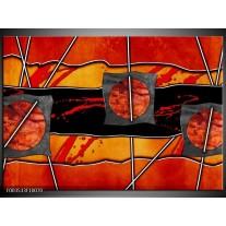 Foto canvas schilderij Abstract | Rood, Grijs, Oranje