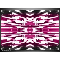 Foto canvas schilderij Abstract | Wit, Paars