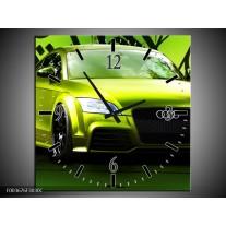 Wandklok op Canvas Audi | Kleur: Groen, Zwart | F003676C