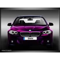 Glas schilderij BMW | Paars, Grijs, Zwart