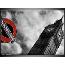 Foto canvas schilderij Londen | Grijs, Zwart, Rood