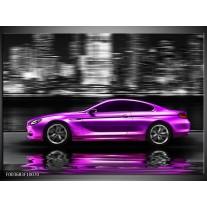 Foto canvas schilderij Auto | Paars, Zwart