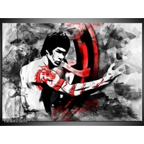 Foto canvas schilderij Sport | Zwart, Rood, Wit
