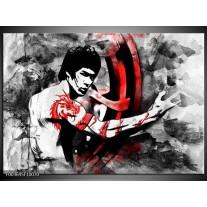 Glas schilderij Sport | Zwart, Rood, Wit