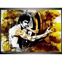 Glas schilderij Sport | Geel, Grijs, Zwart