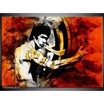 Glas schilderij Sport | Rood, Geel, Zwart