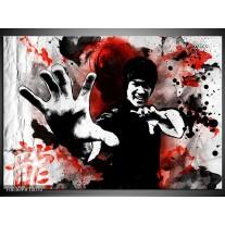 Glas schilderij Sport   Rood, Zwart, Wit