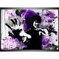 Foto canvas schilderij Sport | Paars, Zwart, Wit