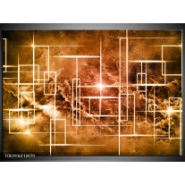 Foto canvas schilderij Abstract | Bruin, Wit