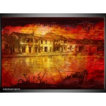 Foto canvas schilderij Steden   Rood, Geel, Zwart