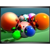 Foto canvas schilderij Abstract | Oranje, Blauw, Groen