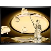 Foto canvas schilderij Vis | Geel, Bruin, Goud