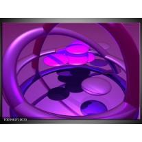 Foto canvas schilderij Abstract | Paars, Blauw, Roze