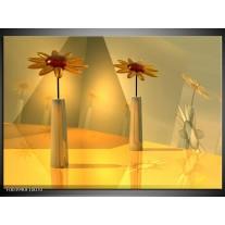 Glas schilderij Bloem | Geel, Oranje