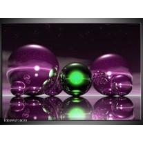 Glas schilderij Abstract   Paars, Groen, Zwart