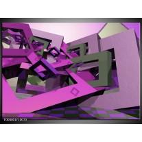 Glas schilderij Abstract | Paars, Roze, Grijs