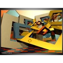 Foto canvas schilderij Abstract | Geel, Grijs, Zwart