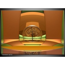 Foto canvas schilderij Abstract | Bruin, Groen,