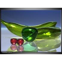 Glas schilderij Abstract | Groen, Rood, Blauw