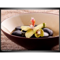 Glas schilderij Stenen | Bruin, Geel, Zwart
