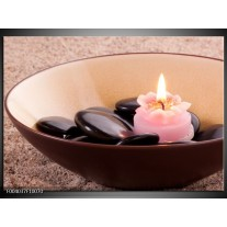 Glas schilderij Stenen | Bruin, Roze, Zwart