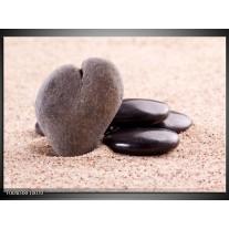 Glas schilderij Stenen | Bruin, Zwart, Grijs
