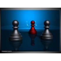 Foto canvas schilderij Spel | Blauw, Rood, Grijs