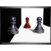Foto canvas schilderij Spel | Grijs, Rood, Zwart