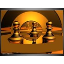 Glas schilderij Spel | Goud, Geel, Bruin