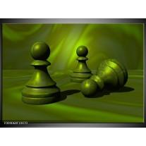 Glas schilderij Spel | Groen