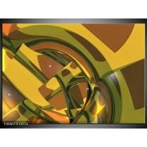 Foto canvas schilderij Abstract | Groen, Bruin, Wit