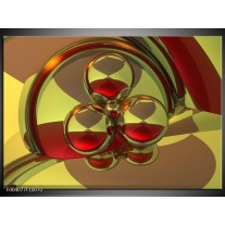 Foto canvas schilderij Abstract | Groen, Rood