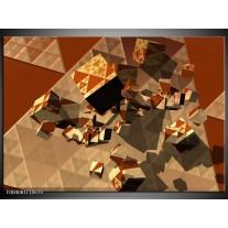 Glas schilderij Abstract   Bruin, Grijs