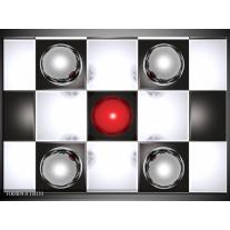 Foto canvas schilderij Macro | Rood, Zwart, Wit