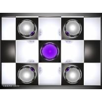 Glas schilderij Macro | Paars, Zwart, Wit